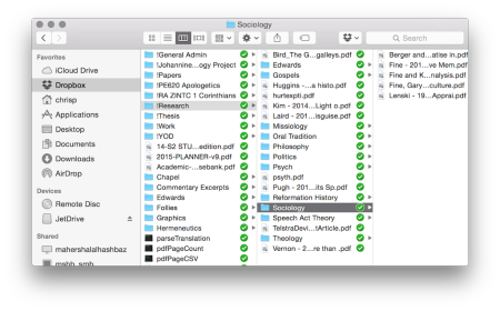 Dropbox and Organisation